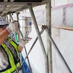 外壁の剥離、塗装作業③