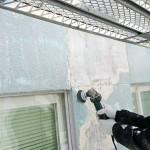 外壁の剥離、塗装作業②