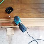 工程①木枠の剥離