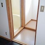 アパート①木枠の剥離、灰汁抜き、ワックス、クリアー