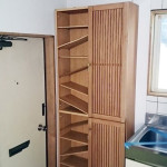 アパート②木枠の剥離、灰汁抜き、ワックス、クリアー