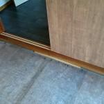 工程③木枠のワックス、クリアー